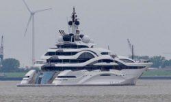 Мега-яхта «Project Jupiter» проходит морские испытания